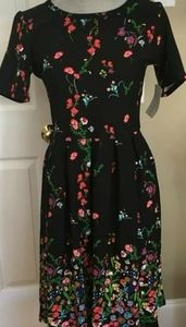 Black Floral LuLaRoe Dress (Rare!)